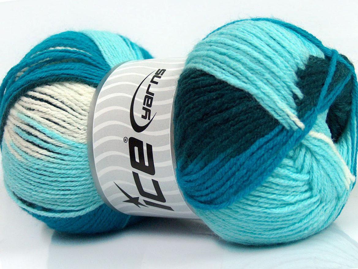 1f6496496bde Design Wool Light White Turquoise Shades Teal, Laine mohair - Angora   Les  petites pelotes de Rosalie